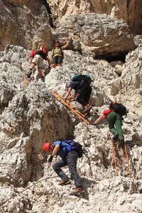 Abstieg von der Nevaio-Scharte