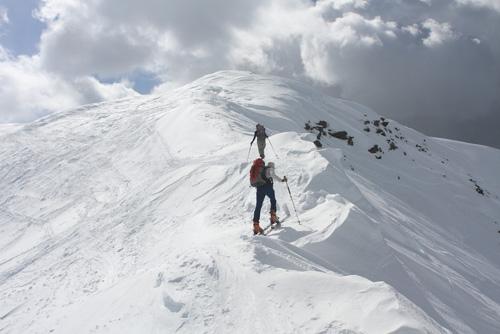 Am Gipfelgrat des Marchkinkele