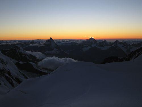 Sonnenuntergang an der Cap. Margherita