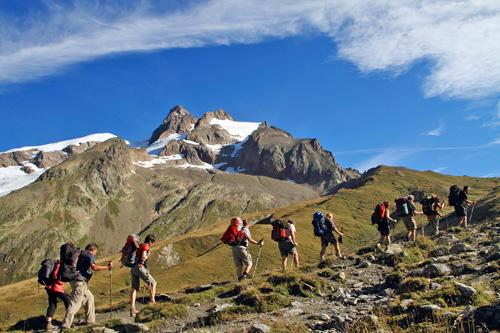 Aufstieg zum Col de la Seigne