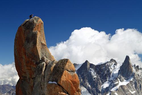 Klettern vor Kulisse