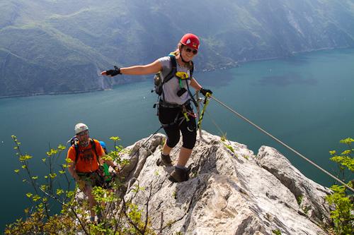 Am Fausto Susatti, hoch über dem Gardasee