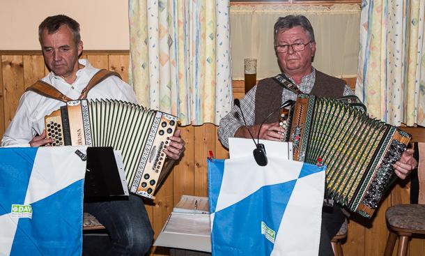 Werner Kienastl (links) und Peter Gebauer spielten auf