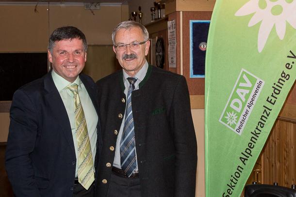 Hans Sterr (links) freut sich über Neumitglied Ludwig Kirmair