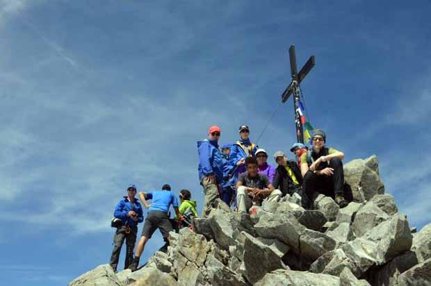 Gipfelfoto mit Ursel