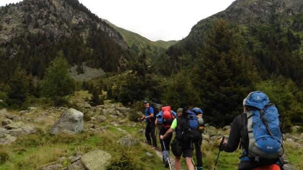 Aufstieg zur Rüsselsheimer Hütte