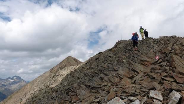 Über sieben - es waren allerdings nur fünf - Gipfel musst du gehen