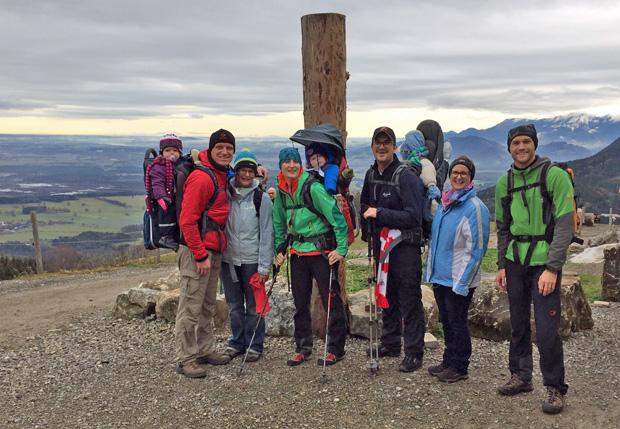 Gruppenfoto an der Tregleralm