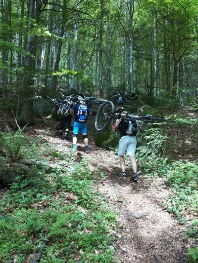 Bikebergsteigen zum Gipfel